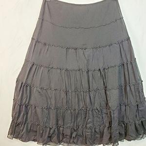 Max Edition Black Midi Skirt SZ S